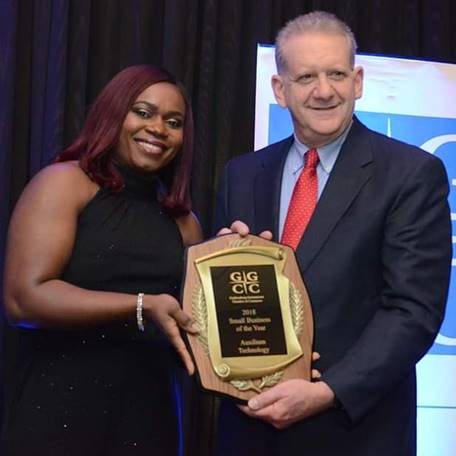 Auxilium Technology Named The Gaithersburg-Germantown Chamber's Small Business Of The Year 2018